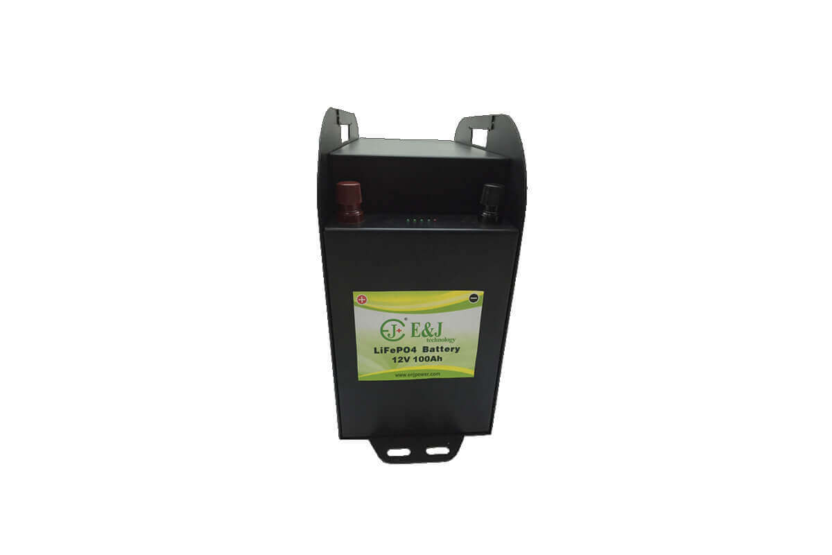 12V 100AH lifepo4 battery mfg prismatic cell lifepo4 Lithium Ferro Phosphate solar RV led monitor battery packs metal case