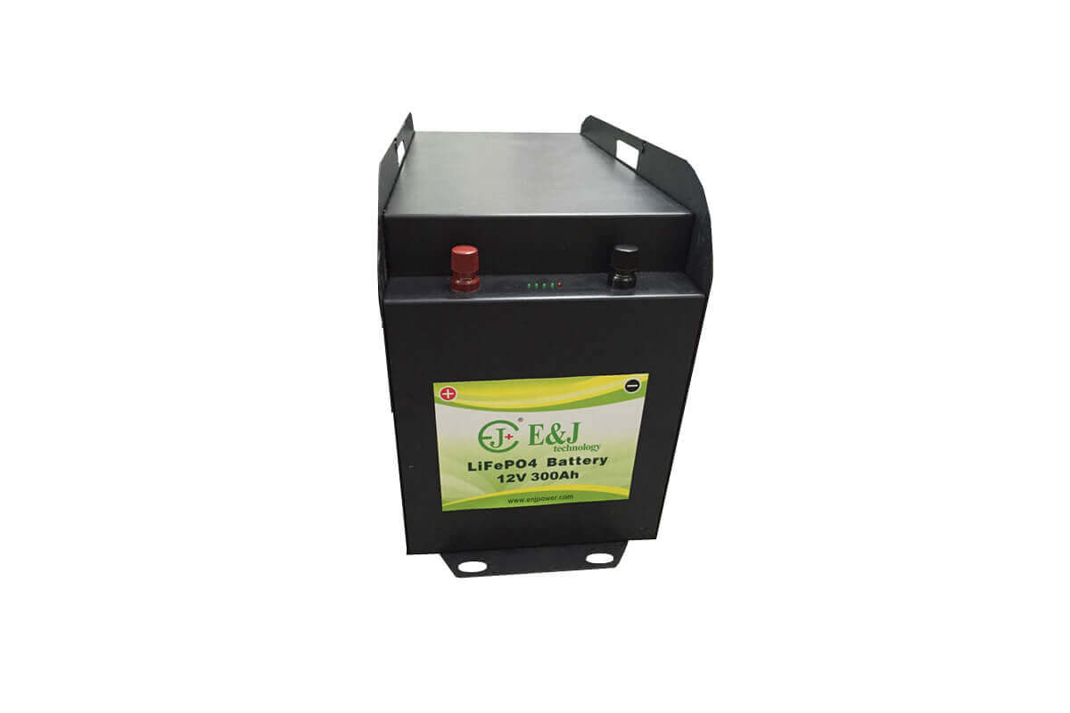 12V 300AH lifepo4 battery mfg prismatic cell lifepo4 Lithium Ferro Phosphate solar RV led monitor battery packs metal case