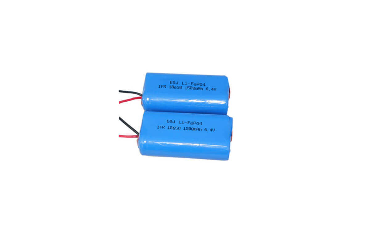 6.4V 1500mah 9.6Wh LiFePO4 IFR18650 Pack with PCB