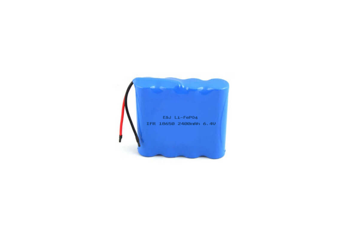 6.4V 2400mAh 14.4Wh LiFePO4 IFR18650 Pack