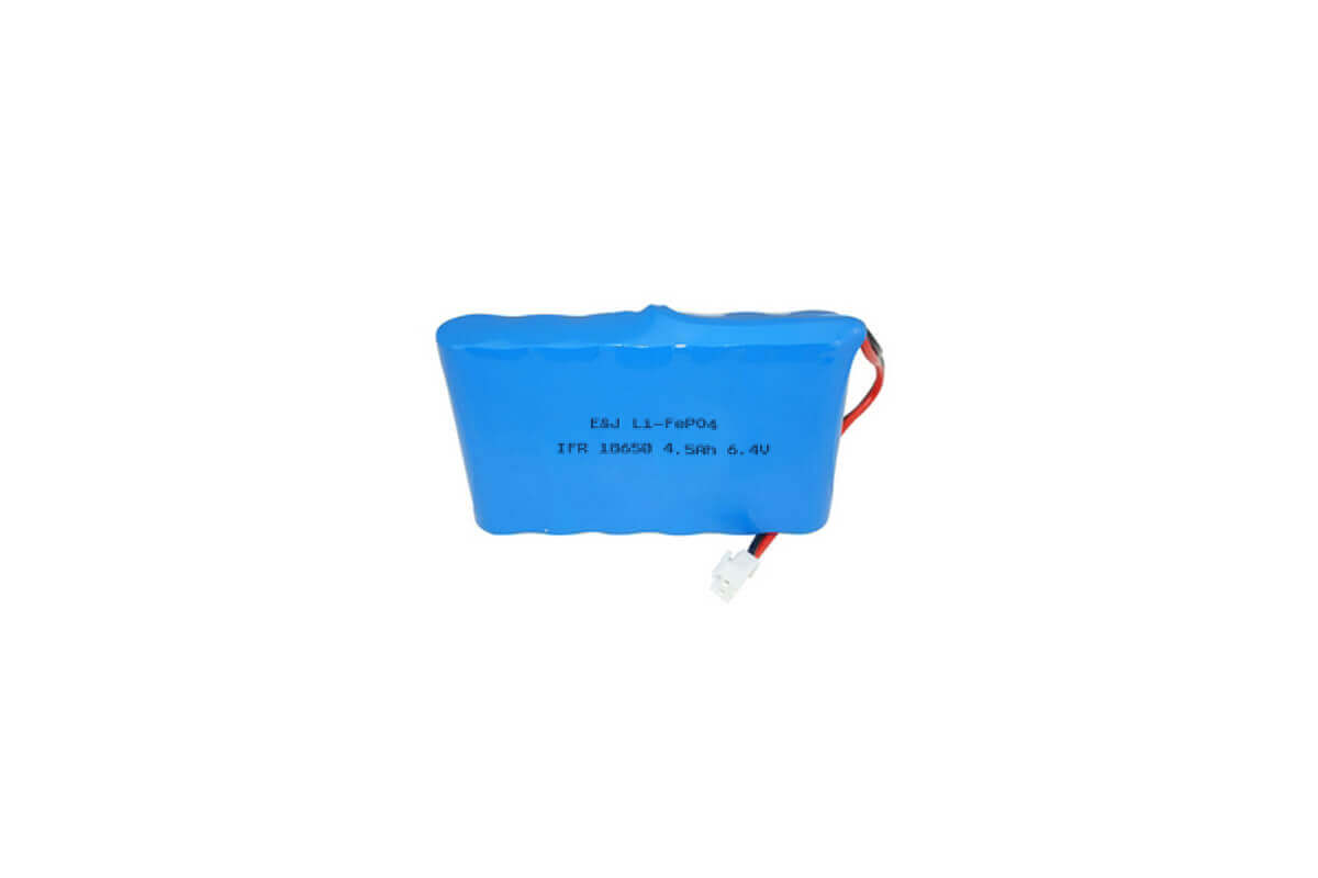 6.4V 4500mah 28.8Wh LiFePO4 IFR18650 Pack