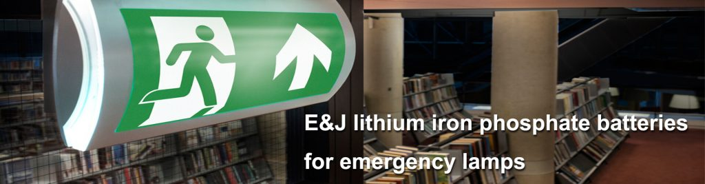 lithium iron phosphate batteries for emergency lamps