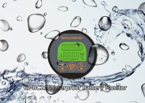 waterproof coulometer battery tester monitor