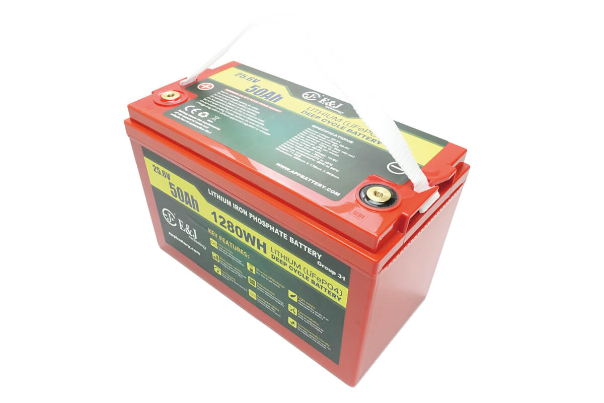 24v 50AH lithium ion deep cycle battery