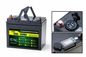 12V50AH Lithium battery with USB and indicater