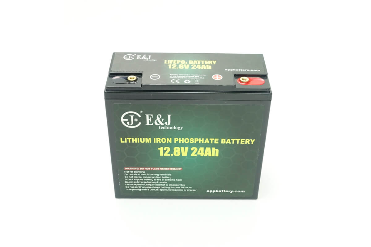 Lithium 12.8V 24Ah 307Wh deep cycle lithium battery