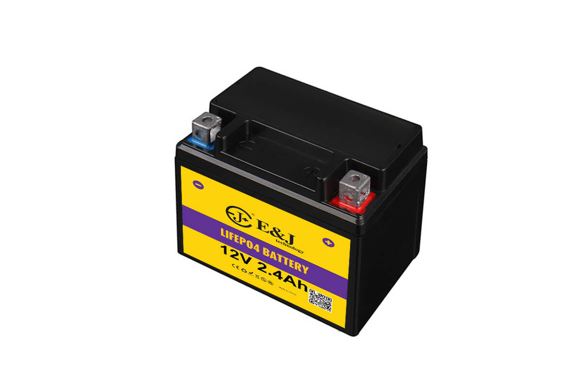 Lithium 12v 2.4ah 144CCA motorcycle battery