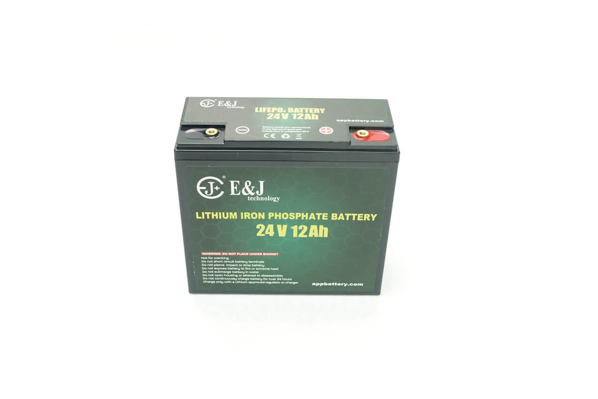 24V 12Ah 25.6V LiFePO4 lithium ion battery