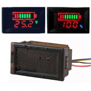 EJ-FG13 Waterproof DC 12V 24V 36V 48V 60V 72V 84V 96V Acid leadLithium polymerLithium iron phosphateNiMH Battery Capacity Indicator