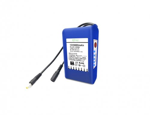 12v 8000mah Li-ion battery with battery meter