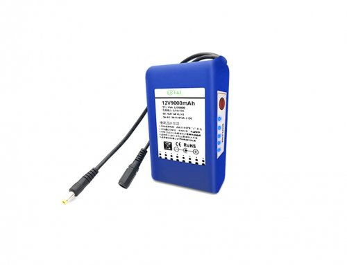 12v 9000mah Lithium battery pack with battery monitor