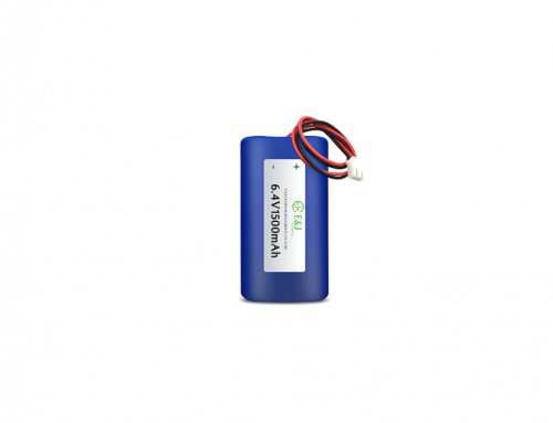 6.4V battery pack – Lithium-Iron-Phosphate (LiFePO4) – 1.5Ah