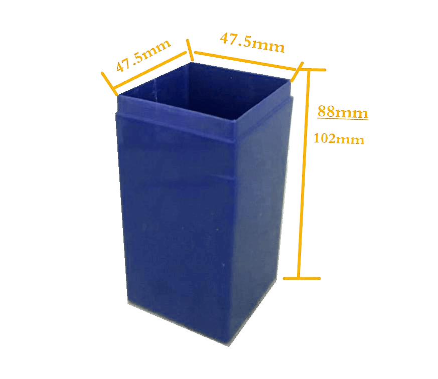 EJ04-04A SLA plastic inside box for 4 18650 Lithium battery cell