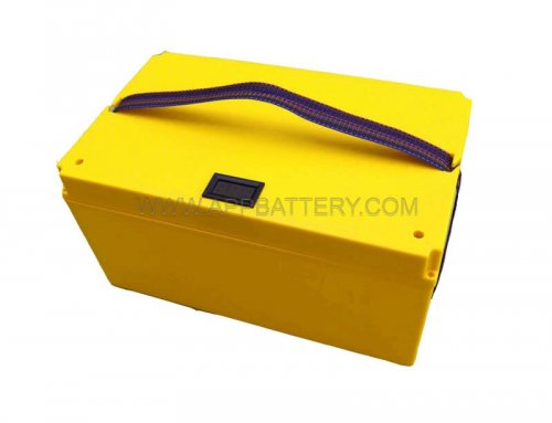 12v Plastic battery backup case portable battery box with voltmeter hole boxes vendor