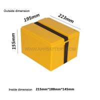 Custom 12v 24v 36v 48v 60v 20ah deep cycle battery Container for Li-ion 18650 pack