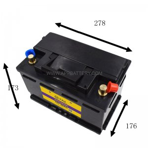 12.8V 60AH 768W LiFePo4 Lithium iron Phosphate Battery Pack for Car Vehicle Battery size