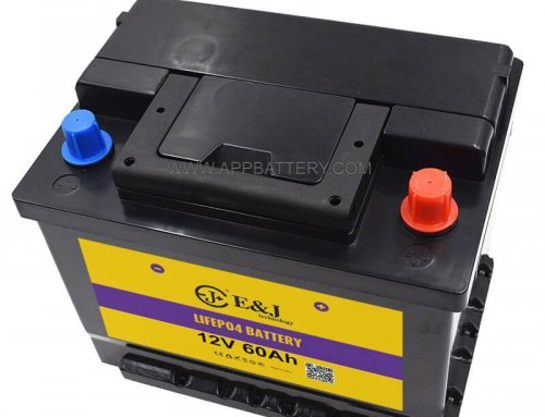 12.8V 60AH LiFePo4 Battery Pack BMS Portable Black ABS for Vehicle Car