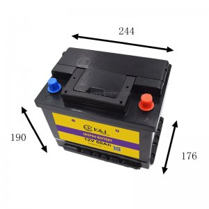 12.8V 60AH LiFePo4 LFP Lithium Iron Phosphate Battery Pack size