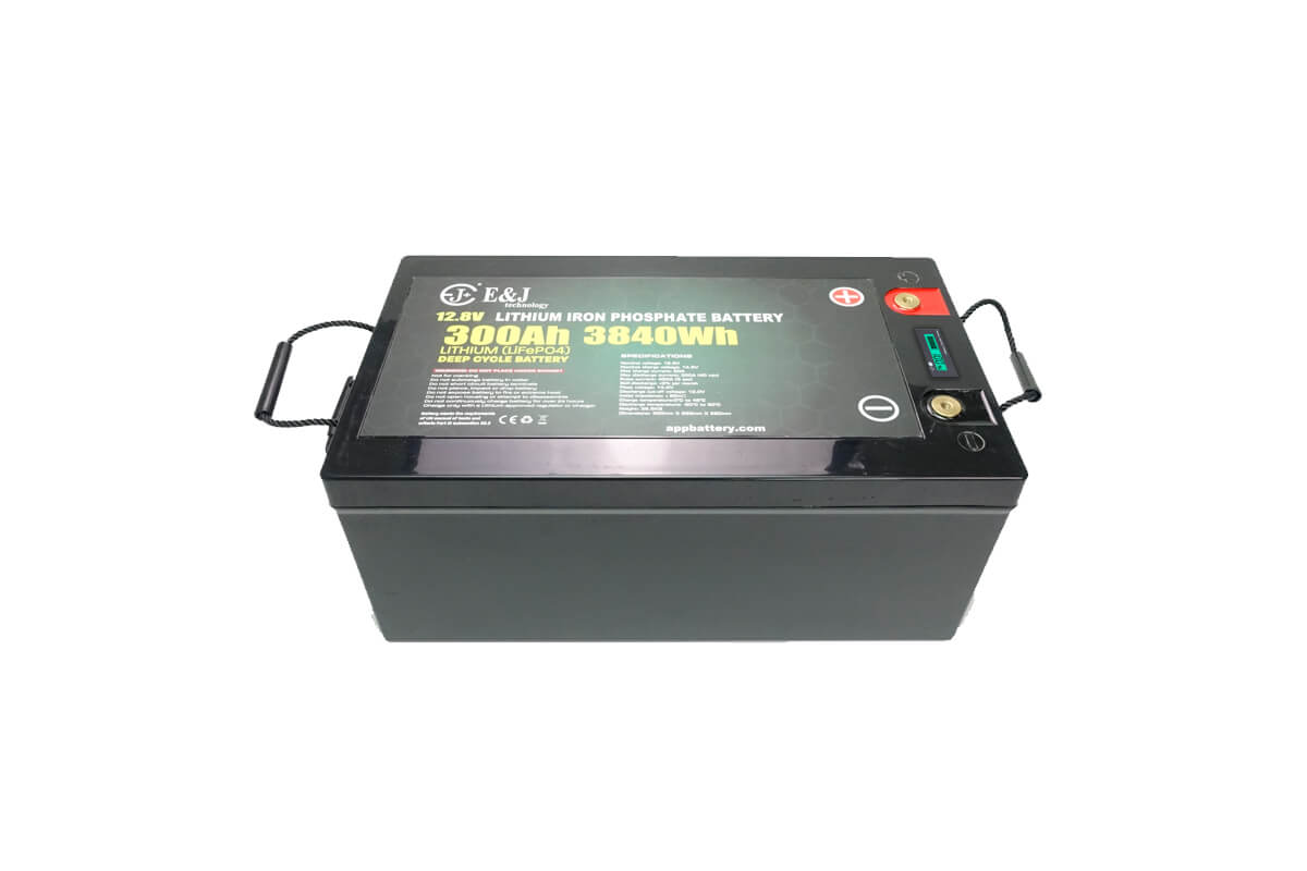 12.8v 300Ah 3840 Watts LiFePO4 Lithium battery pack with in Built LCD indicator and BMS