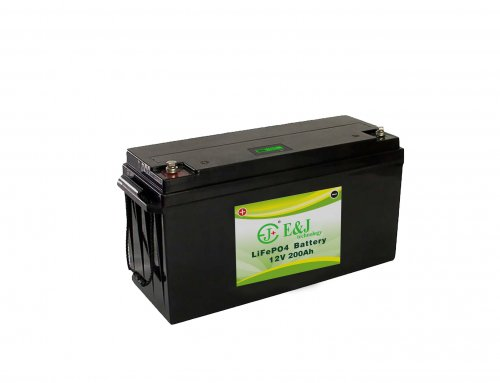 LiFePO4 Battery 12.8V 200Ah 2560 Watts 12v Lithium Battery Pack With In Built BMS battery indicator