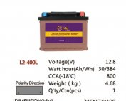 L2-400L 12.8V 30AH 384Wh 800CCA LiFePo4 LFP Lithium-iron Phosphate Battery Pack with Embedded BMS