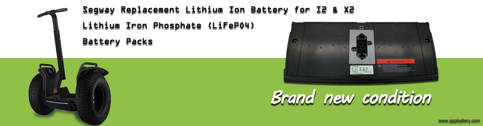 E&J 73.6V Lithium Iron Phosphate (LiFePO4) Segway replacement batteryfor Segway X2 I2 PS series