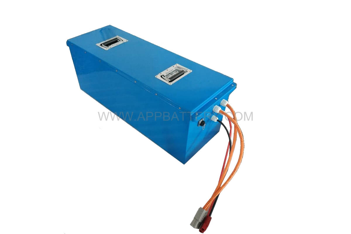 48v 100Ah LiFePO4 26650 15s32p LFP Battery pack with 120A Anderson