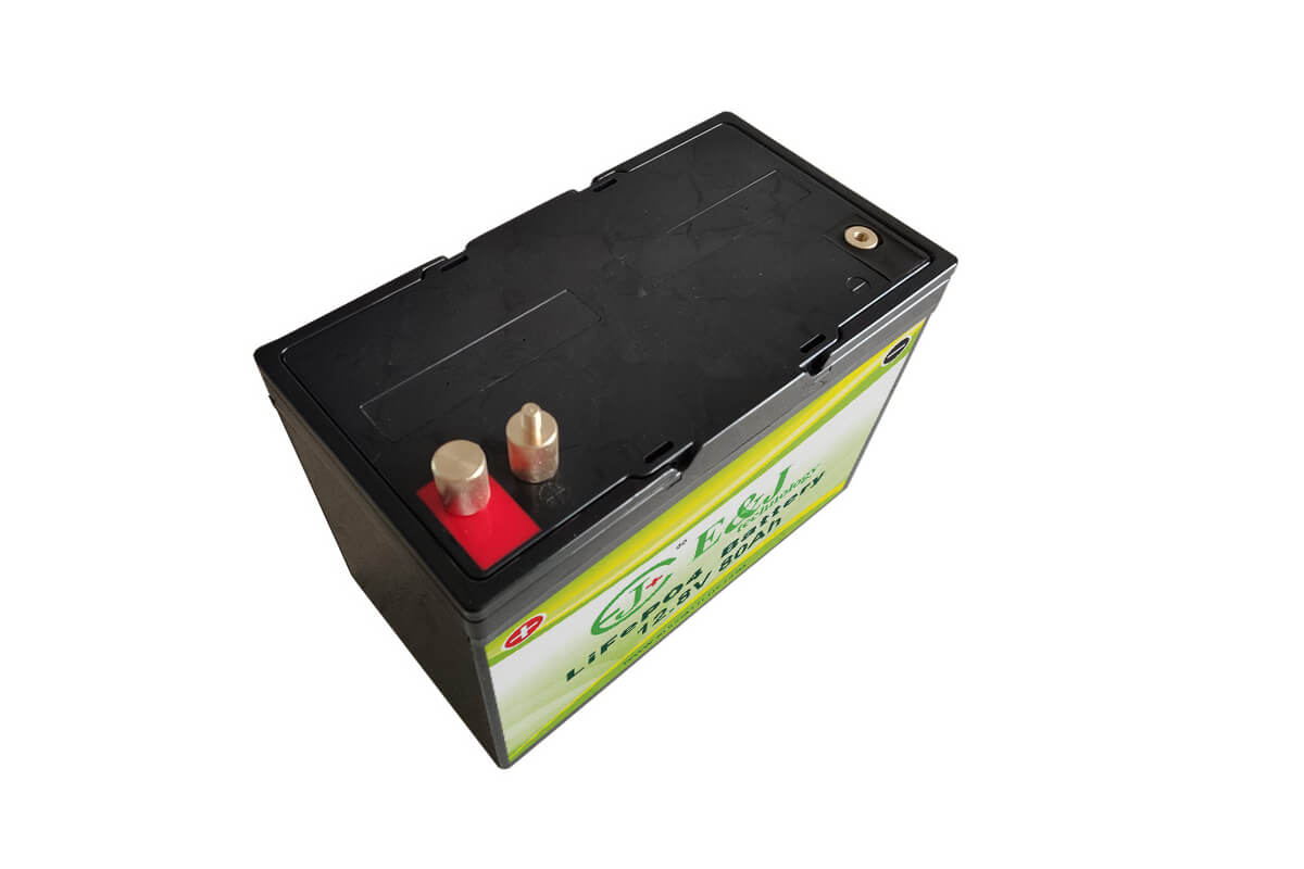 Deep-Cycle 12V 80Ah Lithium Battery for Solar Power, RV, EV and Marine