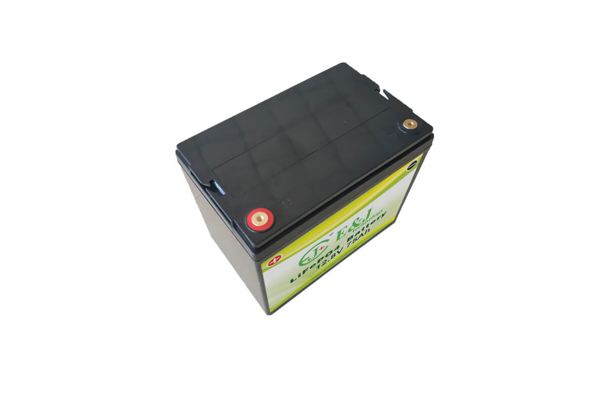 Deep-Cycle Lithium Battery 12V 75AH lifepo4 RV Back-up battery pack