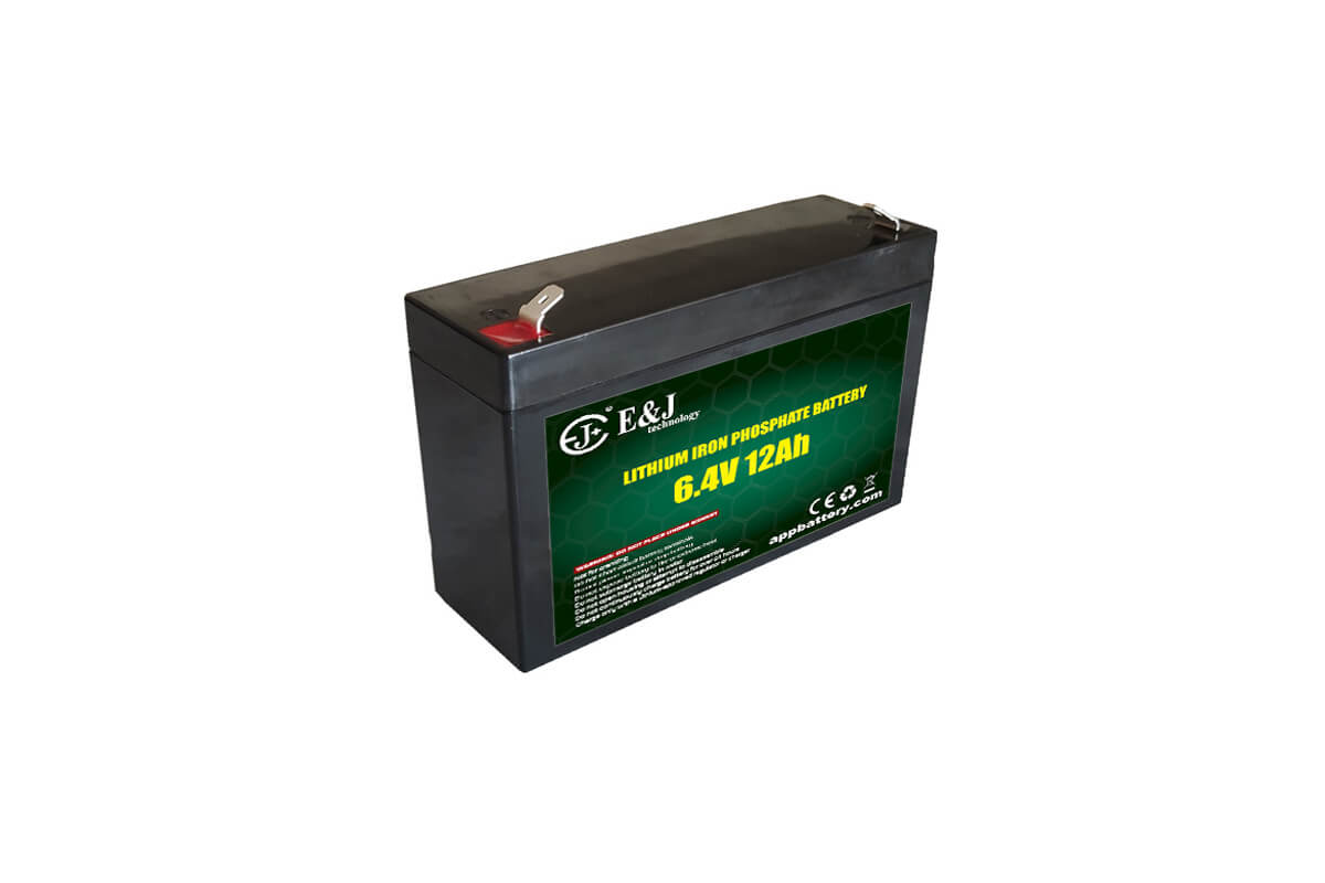 LFP 6.4V 12Ah LiFePO4 battery pack Lithium-ion for back up lighting toys