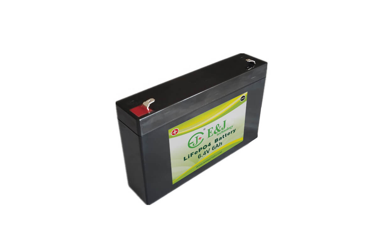 LFP 6.4V 6Ah LiFePO4 battery pack 2S4P Lithium-ion replacement 6V SLA Sealed Lead Acid Batteries