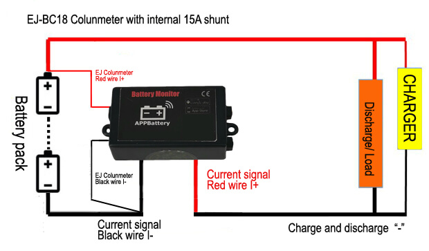 EJ-BC18 battery monitor connection with 50A