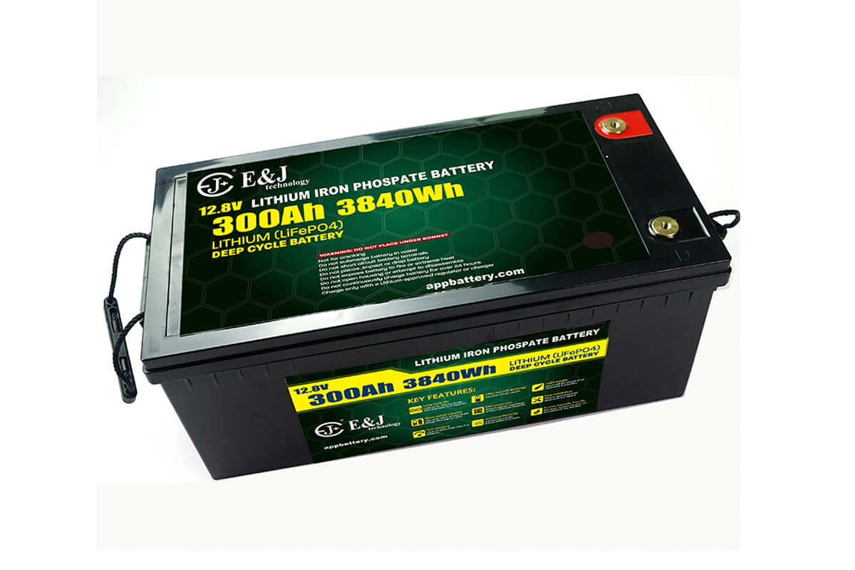 12.8V 300Ah 3480Wh deep cycle lithium battery front access battery