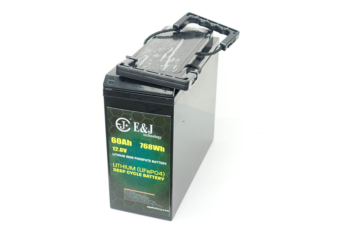 12.8V 60Ah front access battery LiFePO4 Slim line battery lithium iron phospate battery pack
