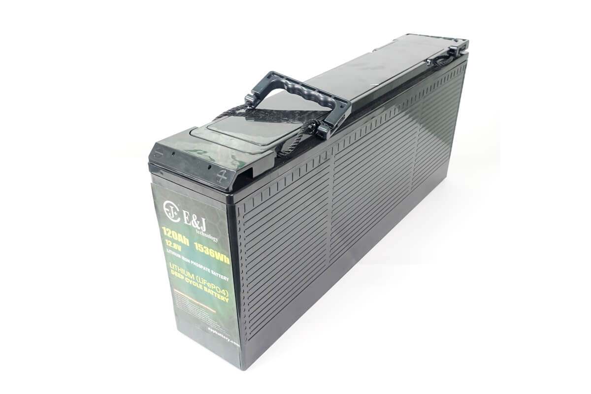 12.8v 120ah front access battery LiFePO4 Slim line battery lithium iron phospate battery pack