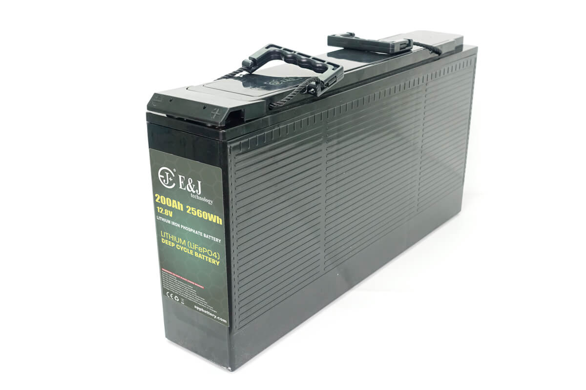 12.8v 200Ah front access battery LiFePO4 Slim line battery lithium iron phospate battery pack
