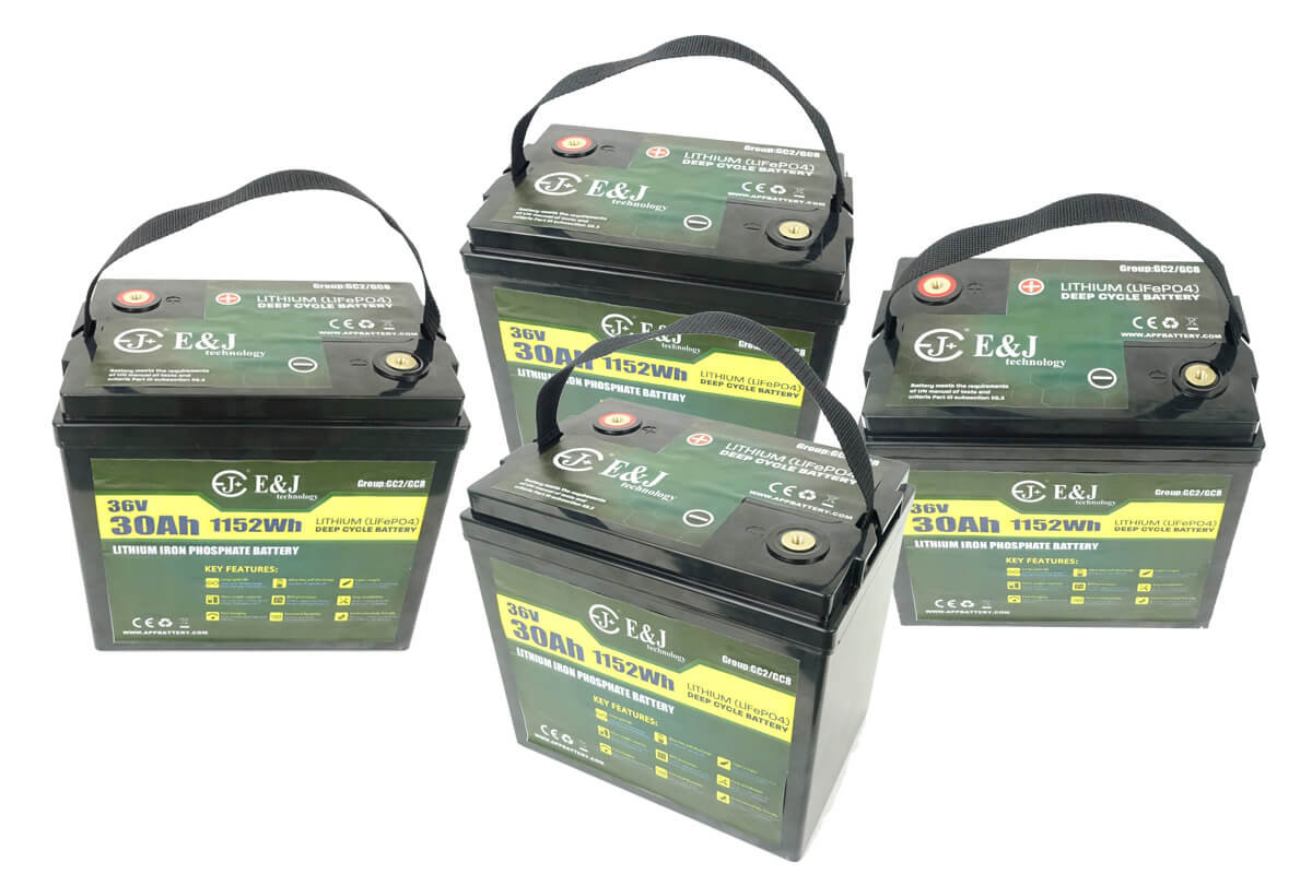 36v 120Ah Lithium battery for golf carts replace GC2 GC8 AGM Trojan T-105 battery