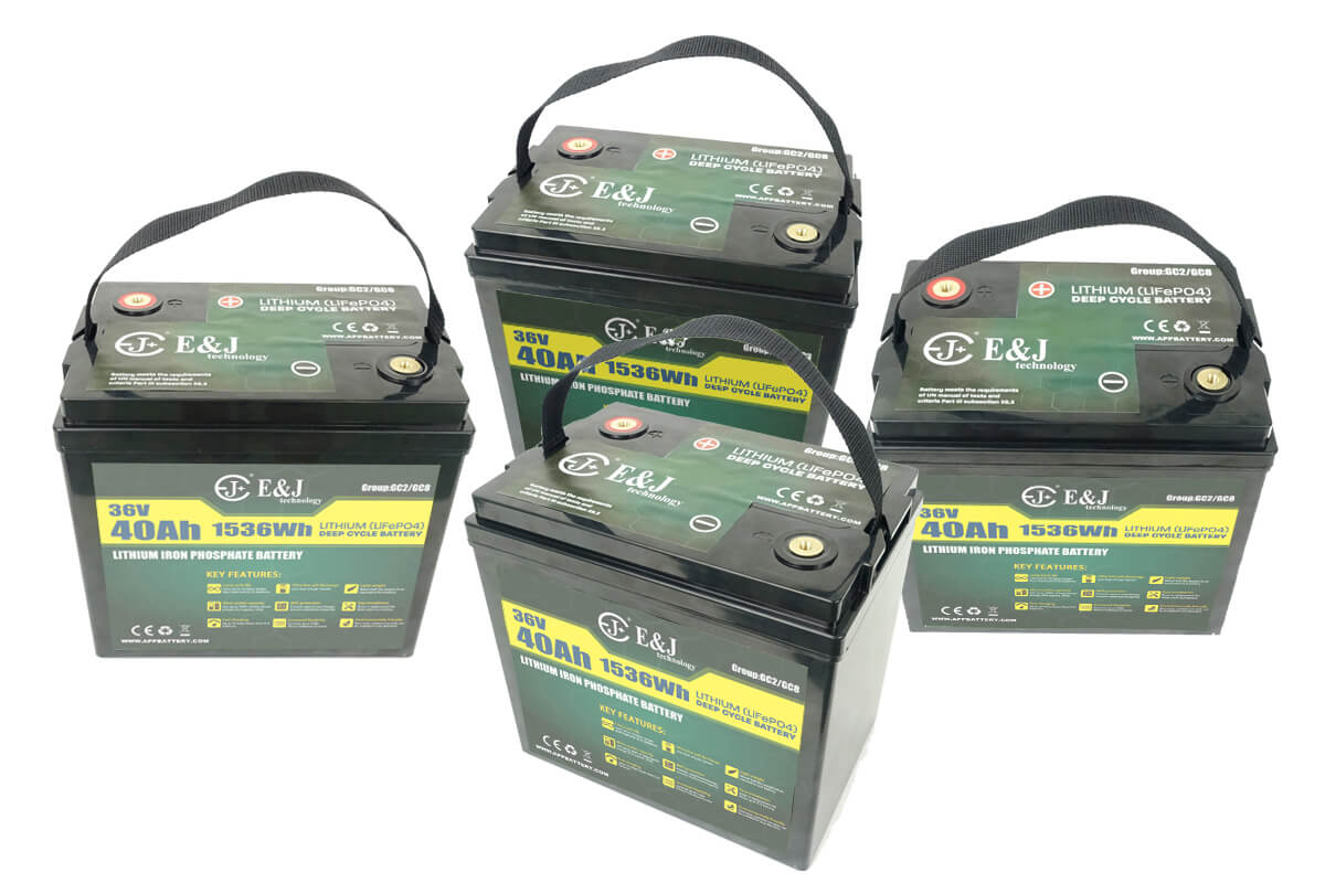 36v 160Ah Lithium battery for golf carts replace GC2 GC8 AGM Trojan T-105 battery