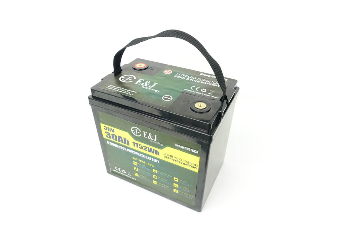 36v 30Ah Lithium battery for golf carts replace GC2 GC8 AGM Trojan T-105 battery
