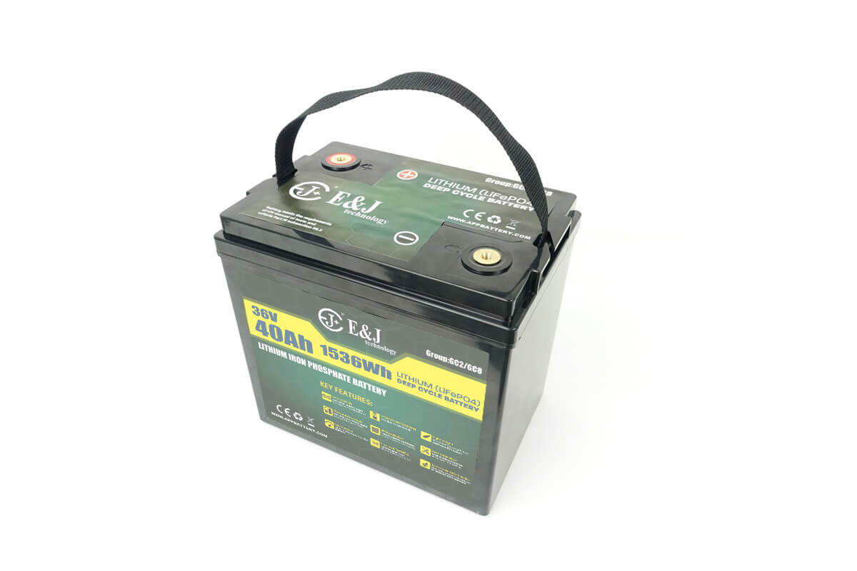 36v 40Ah Lithium battery for golf carts replace GC2 GC8 AGM Trojan T-105 battery