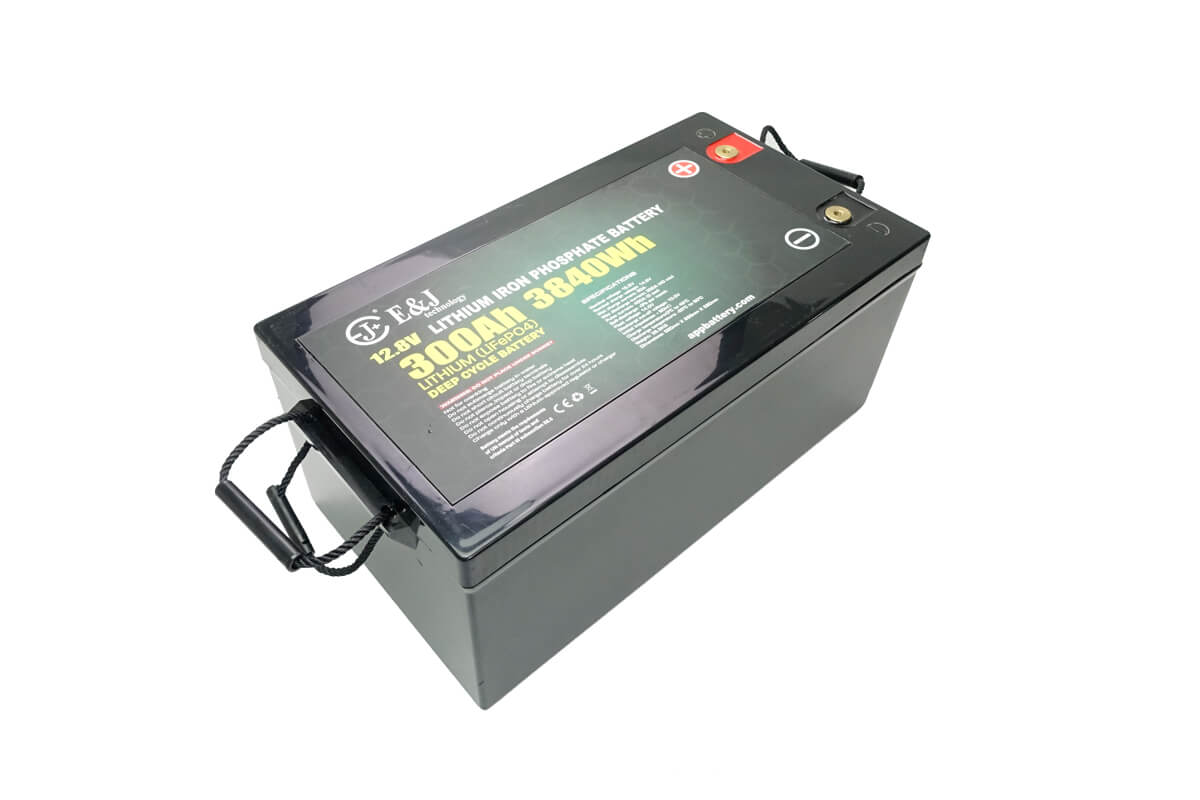Lithium 12.8V 300Ah 3480Wh deep cycle lithium battery front access battery