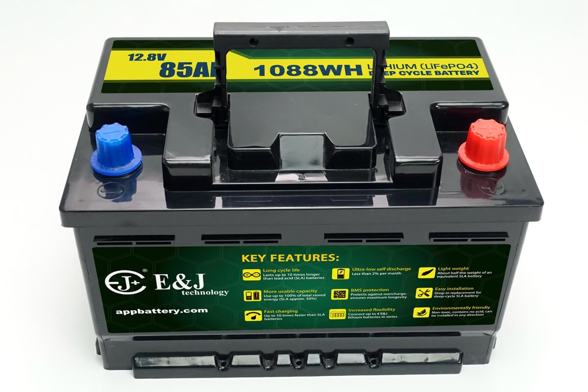EJ1285FE-DIN 57217DIN type Lithium 85Ah LiFePO4 din automotive Battery