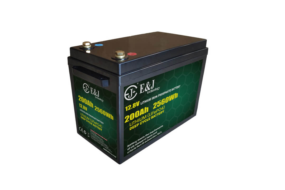 12.8v 200ah front access LiFePO4 battery lithium iron phospate deep cycle battery pack
