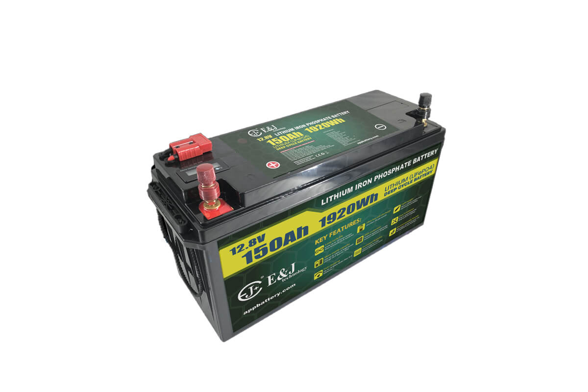 LiFePO4 12V 150Ah Lithium battery pack with SOC meter and Anderson plug for outdoor application