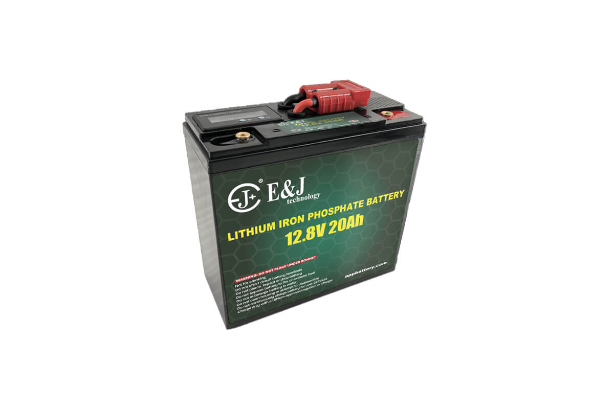 LiFePO4 12V 20Ah Lithium battery pack with SOC meter and Anderson plug for outdoor application