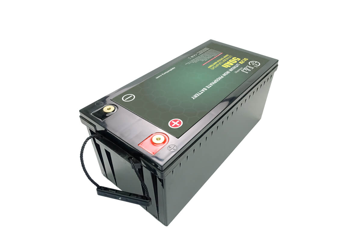 LiFePO4 Li ion 48 volt 50 amp hour battery Lithium deep cycle application in marine or rugged environments